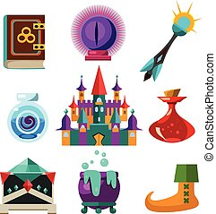 Collection of Vector Fairy Tale Elements