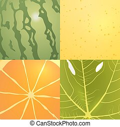 collection of vector fruits textures - Collection of four...