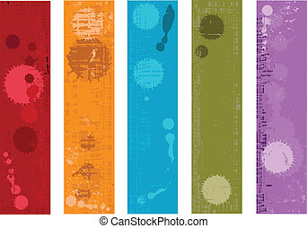 Collection of vector grunge banners - Set of vector banners...