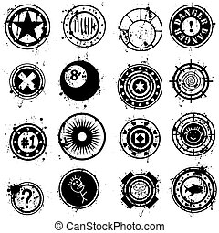 Collection of Vector Grunge Brushes or Stamps