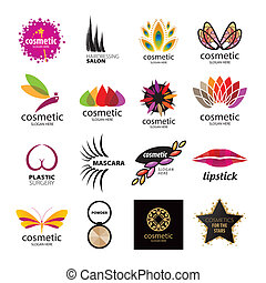Collection of vector logos for cosmetics and body care