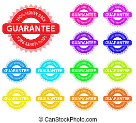 Collection of vector multicolored badges for sales...
