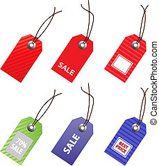 Collection of vector price tags for marketing design.
