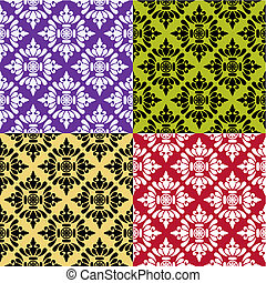 Collection of vector seamless patte
