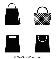 collection of vector shopping bag icons