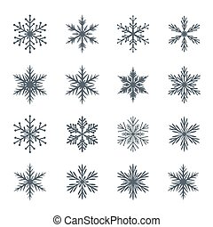 Collection of Vector Snowflakes.