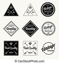 Collection of Vector Vintage Retro Label Set of 9
