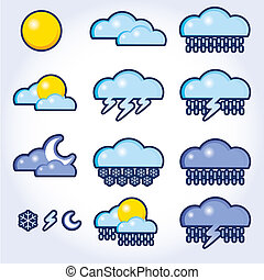 collection of vector, weather icons