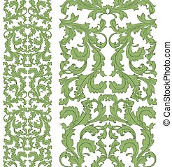 collection of vertical seamless borders with arabesque for your