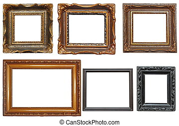 collection of very old painting frames - collection of...