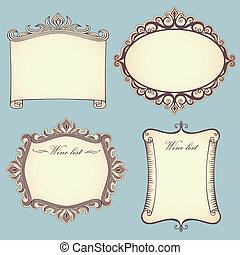 Collection of vintage frames