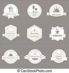 coffee and restaurant labels