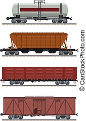 Collection of waggons