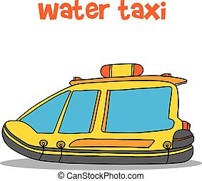 Collection of water taxi cartoon
