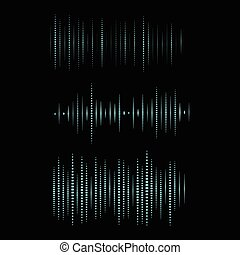 Collection of waveform. Vector illustration for club, radio, party, concerts or the audio technology advertising