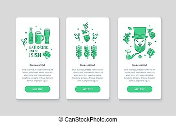 Collection of web banners for St. Patrick's Day.