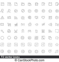 Collection of Web Icons in Vector
