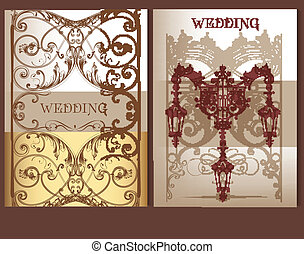 Collection of wedding cards in past