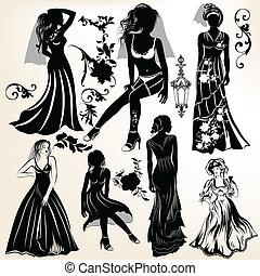 Collection of wedding silhouettes