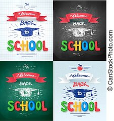 Collection of Welcome Back to School posters