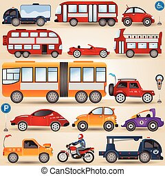 collection of wheels - Great illustration of different...