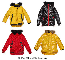 Collection of winter jackets