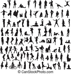 collection of women's silhouettes