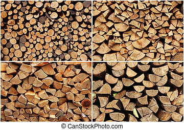collection of wood logs
