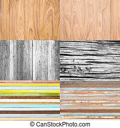 Collection of wooden background