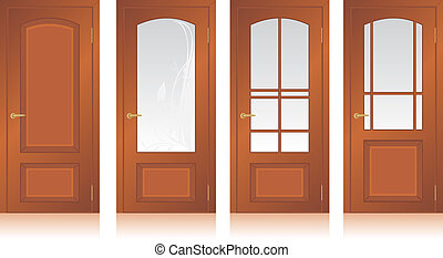 Collection of wooden doors