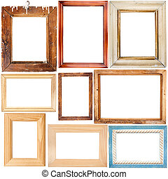 Collection of wooden frames