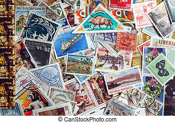 collection of world stamps