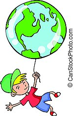 Collection of world with child