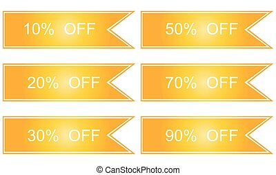 Collection of yellow sale tickets