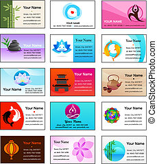 Collection of Yoga and Zen business cards - Yoga and Zen...