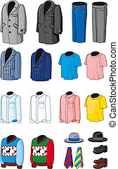 Collection outerwear - Blank Men's wear. Business, casual...