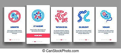 Collection Pathogen Elements Vector Onboarding - Collection...