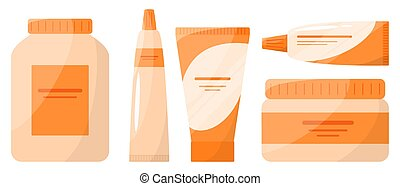 collection, pharmacie, bottle., médicament, boîte, drogue, ...