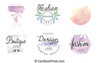collection, qualité, logo, luxe, gabarits, boutique, prime, conception mode, vecteur, illustration, insignes