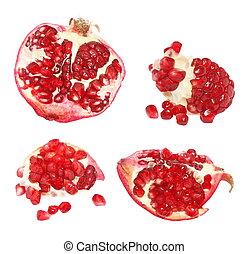 pomegranate fruits isolated