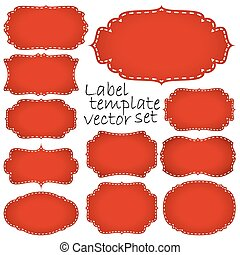 collection retro labels - collection of different vintage...