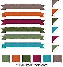 Ribbons - Collection Ribbons, Isolated On White Background,...