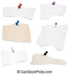 collection scrap of paper - collection of different colored...