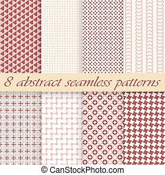 collection seamless abstract backgrounds - vector collection...