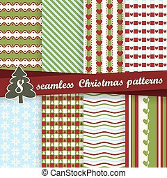 collection seamless christmas backgrounds - vector...