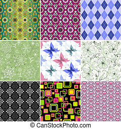 Collection seamless wallpapers - Collection decorative...