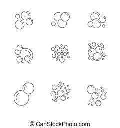 collection., set., eps, アイコン, ベクトル, illustration., 泡, 10