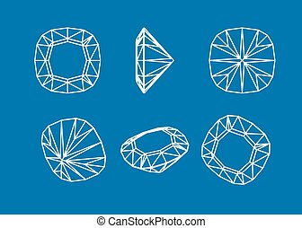 Collection shapes of diamond.