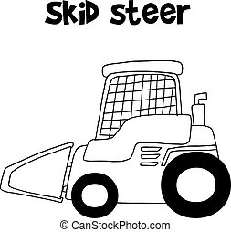 Collection skid steer hand draw