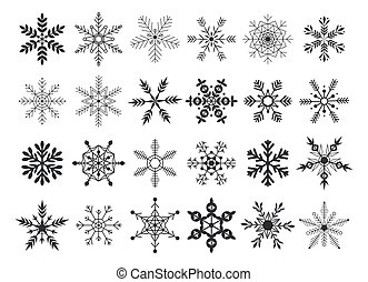 Collection snowflakes vector illustration